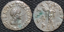 Ancient Coins - INDO-GREEK: Menander I Silver drachm, bare-headed type.