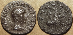 Ancient Coins - INDIA, INDO-GREEK: Diomedes Silver drachm, Bare-headed type. RARE!