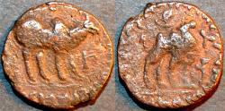 Ancient Coins - Kushan: Kujula Kadphises AE pentachalkon: Bull/Camel