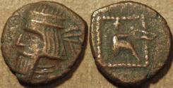 Ancient Coins - PARTHIA, GOTARZES II (40-51 CE) Copper chalkous, Ecbatana, Sell 65.47. RARE & CHOICE!