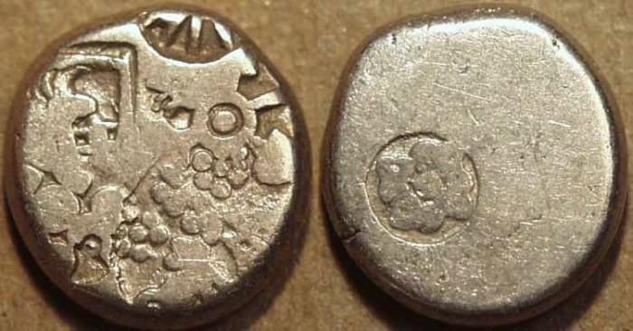 Ancient Coins - INDIA, MAURYA: Series Vb punchmarked silver karshapana, GH 519.