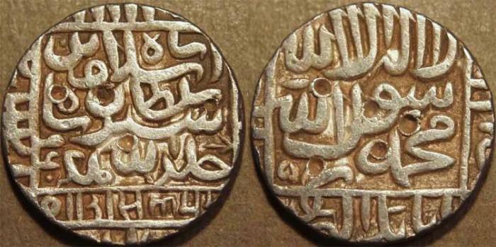 Ancient Coins - INDIA, DELHI SULTANATE, Islam Shah (1545-52) Silver rupee, Agrah, AH 960. CHOICE!