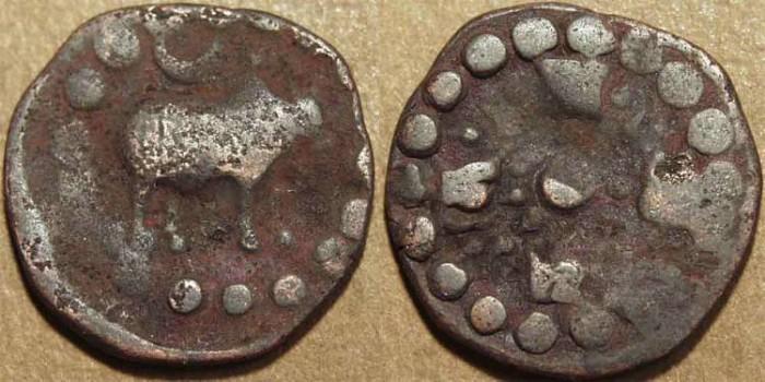 World Coins - NEPAL: Dynasty of Raghavadeva (879-926) and successors Copper unit. SCARCE!