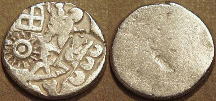 Ancient Coins - INDIA, MAURYA: Series Va punchmarked silver karshapana, GH 506. CHOICE!