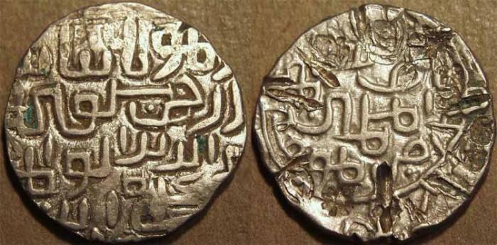 World Coins - INDIA, BENGAL SULTANATE, Saif al-Din Hamzah (1410-12) Silver tanka, B266. SCARCE + CHOICE!