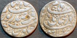 Ancient Coins - INDIA, MUGHAL, Jahangir AR rupee naming Nur Jahan, Lahore, RY 20, AH 1034. SCARCE and CHOICE!