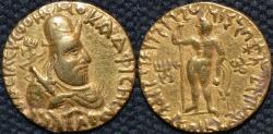 Ancient Coins - INDIA, KUSHAN: Vima Kadphises gold dinar: SCARCE and CHOICE!
