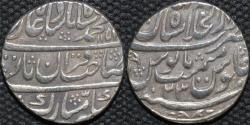 Ancient Coins - INDIA, MUGHAL, Muhammad Shah (1719-48): Silver rupee, Shahjahanabad, RY 23. SUPERB!