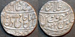 World Coins - INDIA, MUGHAL, Shah Alam II: Silver rupee, Shahjahanabad, AH 1195, RY 22. SUPERB!