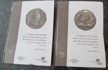Ancient Coins - BOOK: Klaus Vondrovec: Coinage of the Iranian Huns and Their Successors from Bactria and Gandhara - 4th to 8th Century CE (2 volumes) - NEW but DAMAGED