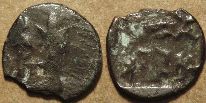 Ancient Coins - INDIA, PANCHALA, Agnimitra AE 1/16 karshapana, UNLISTED!