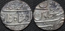 INDIA, MUGHAL, Muhammad Shah (1719-48): Silver rupee, Kanbayat, RY 13. CHOICE!