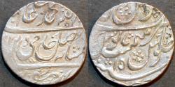 Ancient Coins - INDIA, MUGHAL, Shah Alam II: Silver rupee, Gokulgarh, AH (11)87, RY 15. SCARCE & CHOICE!