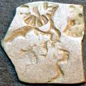 Ancient Coins - INDIA, MAGADHA: Series IVd Silver punchmarked karshapana, GH 424