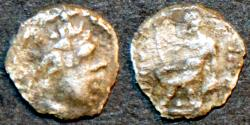 Ancient Coins - BACTRIA (BAKTRIA): Euthydemos (Euthydemus) I AR tetartemorion. NEW DISCOVERY!