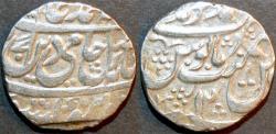 Ancient Coins - ROHILLAS: Faizullah Khan Silver rupee in name of Shah Alam II, Muhammadnagar, RY 12. UNPUBLISHED, RARE and CHOICE!