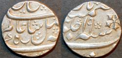 """Ancient Coins - BRITISH INDIA, BENGAL PRESIDENCY: Silver rupee in the name of Shah Alam II, Murshidabad, AH 120x, RY """"19"""". SUPERB!"""