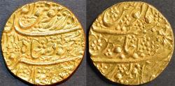 Ancient Coins - AFGHANISTAN, DURRANI, Mahmud Shah Gold double mohur, Bahawalpur, AH 1217, RY 1, RR and SUPERB!