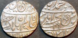 Ancient Coins - BRITISH INDIA, BENGAL PRESIDENCY: Silver rupee in the name of Shah Alam II, Banaras, AH 1223, RY 49. SUPERB!