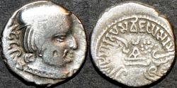 Ancient Coins - INDIA, WESTERN KSHATRAPAS: Vijayasena (239-250 CE) Silver drachm, as Mahakshatrapa, year S. 164