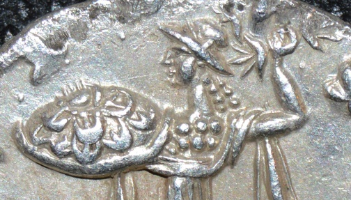Ancient Coins - INDO-GREEK: Menander I Silver tetradrachm, helmeted type. SUPERB!