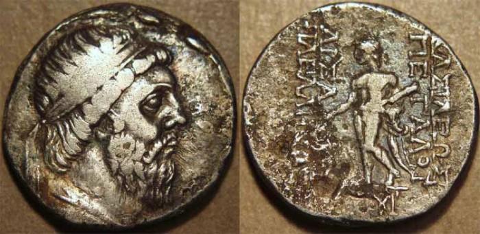 Ancient Coins - PARTHIA, MITHRADATES I (171-138 BCE) Silver tetradrachm, Seleucia on the Tigris, Sell 13.2. RARE!