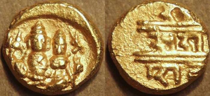 World Coins - INDIA, IKKERI NAYAKAS: Sadasiva Gold pagoda, Type B. VERY RARE + CHOICE!
