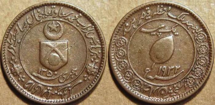 World Coins - INDIA, TONK, Muhammad Sa'adat Ali Khan AE paisa, small flan type, 1932 (AH 1350). CHOICE!