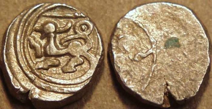 Ancient Coins - INDIA, Vijayanagar: Hari Hara I or II AR 10-rattis. SCARCE!