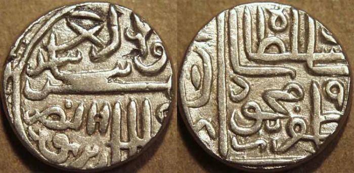 World Coins - INDIA, GUJARAT SULTANATE, Shams al-din Muzaffar II: Silver tanka, GG 262, CHOICE!