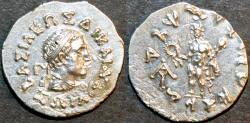 Ancient Coins - INDO-GREEK, Zoilos I Silver drachm, RARE and CHOICE+!