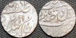Ancient Coins - INDIA, HYDERABAD, Mir Mahbub Ali Khan (1868-1911) Silver rupee ino Asaf Jah, Hyderabad, AH 1302. CHOICE!