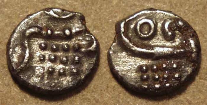 Ancient Coins - DUTCH INDIA: Silver fanam, Cochin. RARE & CHOICE!