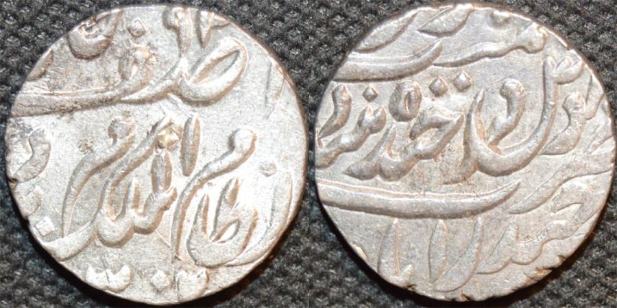 World Coins - INDIA, HYDERABAD, Mir Mahbub Ali Khan (1868-1911) Silver rupee ino Asaf Jah, Hyderabad, AH 1302. CHOICE!