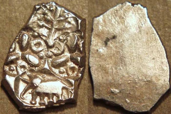 Ancient Coins - INDIA, VIDARBHA janapada: AR punchmarked 1/2 karshapana. UNPUBLISHED, RARE and CHOICE!