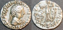 Ancient Coins - INDO-GREEK: Zoilos II Silver drachm, realistic, young portrait. SUPERB!