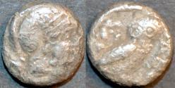 Ancient Coins - BACTRIA, imitation Athenian owl, time of Stasanor (c. 320 BCE) AR hemidrachm, VERY RARE!