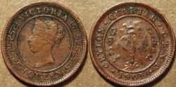 Ancient Coins - SRI LANKA (CEYLON), BRITISH PERIOD, Queen Victoria AE 1/4 cent, 1901