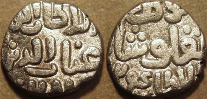 Ancient Coins - INDIA, DELHI SULTANATE, Ghiyath al-din Tughluq (1320-25) Billon 4-gani, dated AH 724.