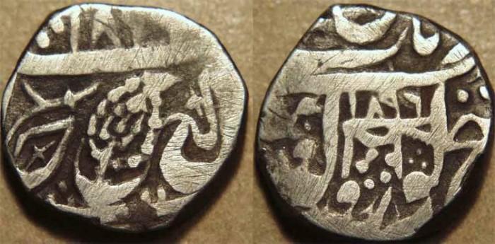 Ancient Coins - INDIA, SIKH, Silver rupee, Derajat, VS 1896. RARE and CHOICE!