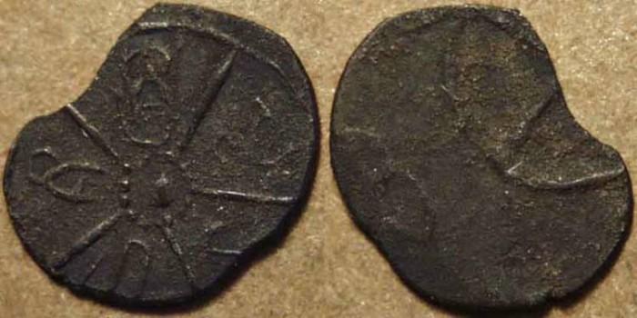 "World Coins - INDIA, KADAMBAS of BANAVASI: ""Sri Manarashi"" potin unit. RARE!"