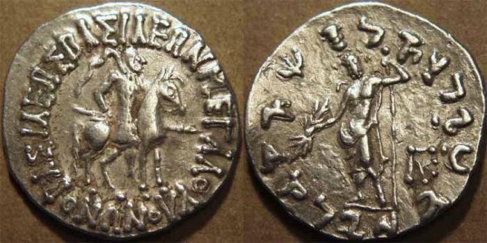 Ancient Coins - INDO-SCYTHIAN, Vonones with Spalahores Silver tetradrachm. SCARCE and CHOICE!