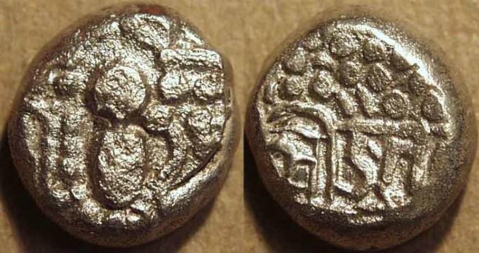World Coins - INDIA, Paramaras of Malwa: Jaya Varma I (c. 1142-44) Silver drachm. UNPUBLISHED, RARE and CHOICE!