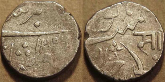World Coins -  INDIA, Baroda, Sayaji Rao II (1819-47) AR rupee, Baroda mint, AH 1256, RY 36.