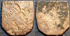 Ancient Coins - INDIA, MAURYA: Series Va punchmarked silver karshapana, GH 484