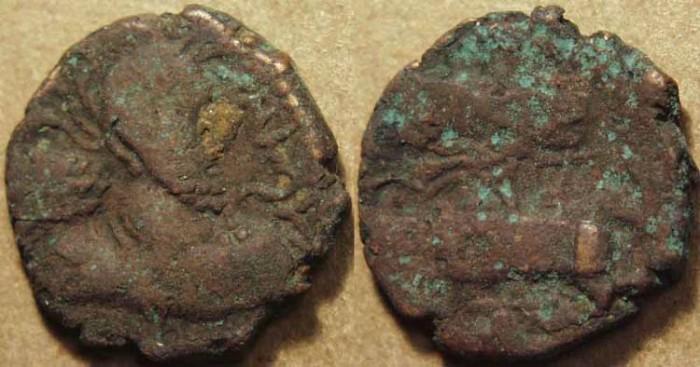 Ancient Coins - INDIA, KUSHANO-SASANIAN, Hormizd I Kushanshah: Copper drachm, heavy type, with legend of Meze. SCARCE!