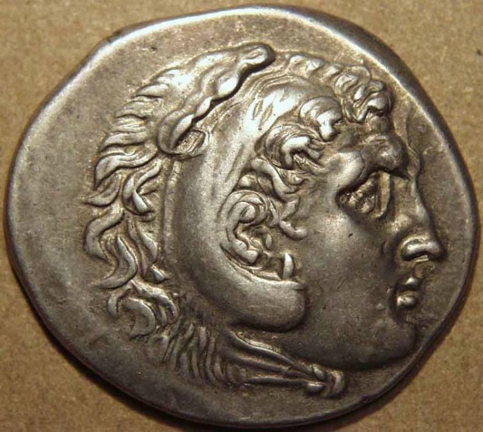 Ancient Coins - GREEK, MACEDONIAN KINGDOM, AR tetradrachm naming Alexander III, Perga, year 26. SCARCE and CHOICE!