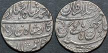 Ancient Coins - INDIA, MUGHAL, Ahmad Shah Bahadur (1748-54) AR rupee, Shahjahanabad, year 5, CHOICE+!