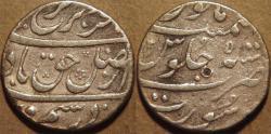 Ancient Coins - INDIA, MUGHAL, Farrukhsiyar (1713-19) AR rupee, Surat, RY 5. CHOICE!