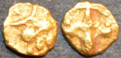 Ancient Coins - INDIA, HOYSALA: Anonymous Gold 1/4 fanam or haga, VERY RARE!